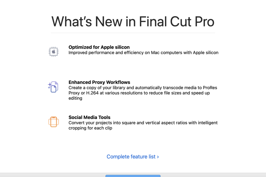 What's new in FCP 10.5.1